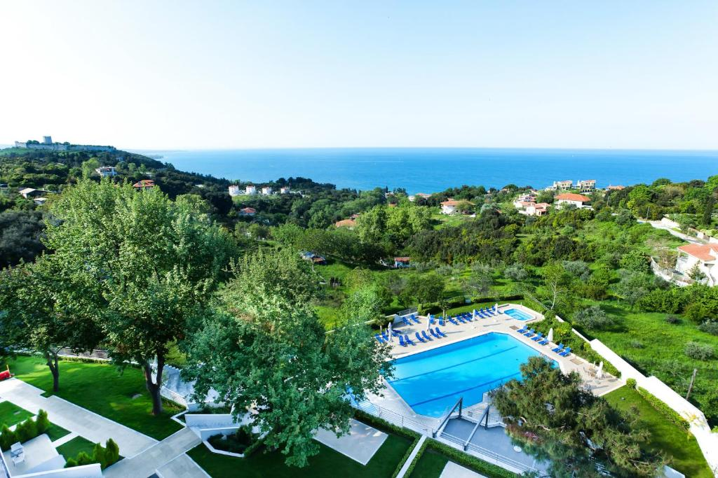 Θέα της πισίνας από το Olympus Thea Boutique Hotel ή από εκεί κοντά