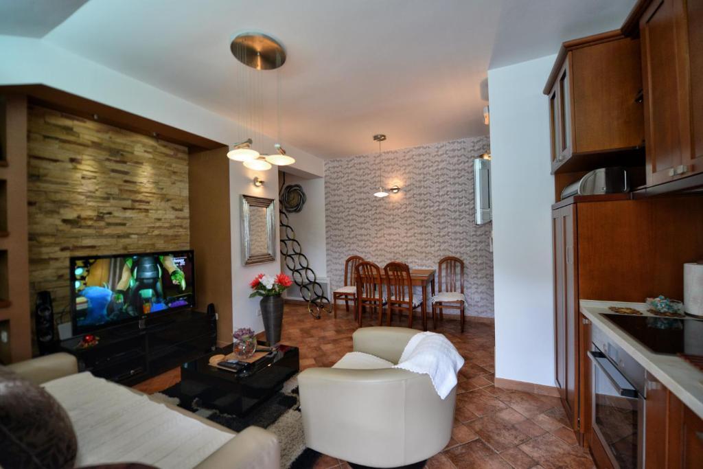 Zona de estar de BMB Apartments Kotor