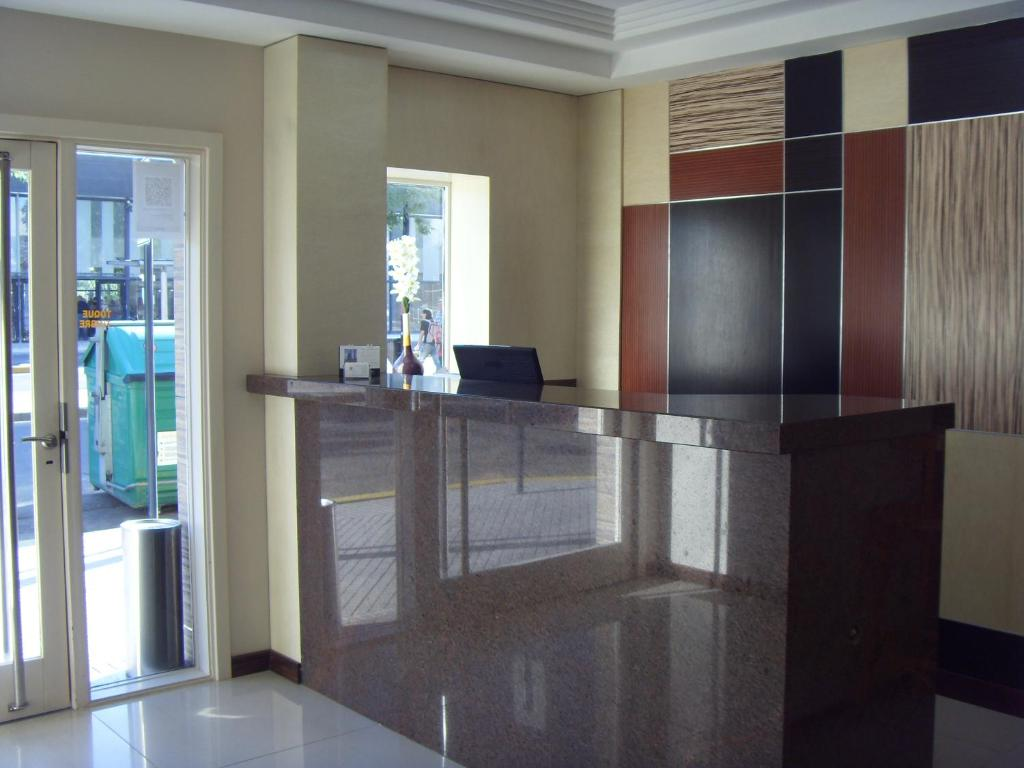 The lobby or reception area at Hotel Micro