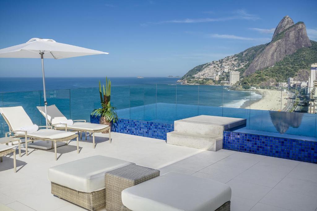 The swimming pool at or near Praia Ipanema Hotel