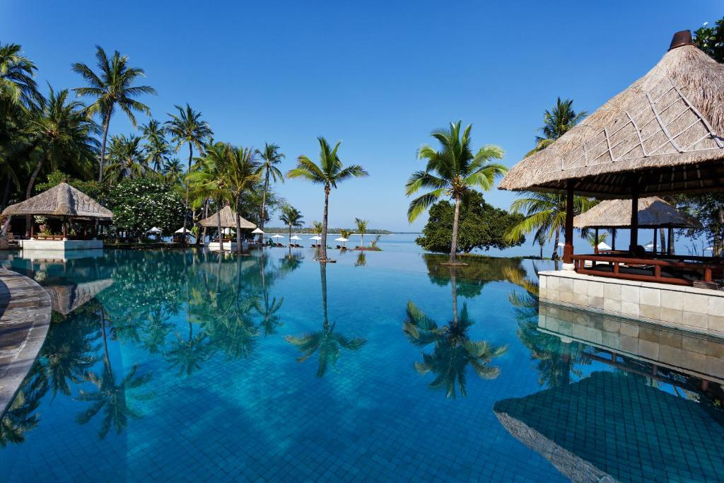 The swimming pool at or close to The Oberoi Beach Resort, Lombok