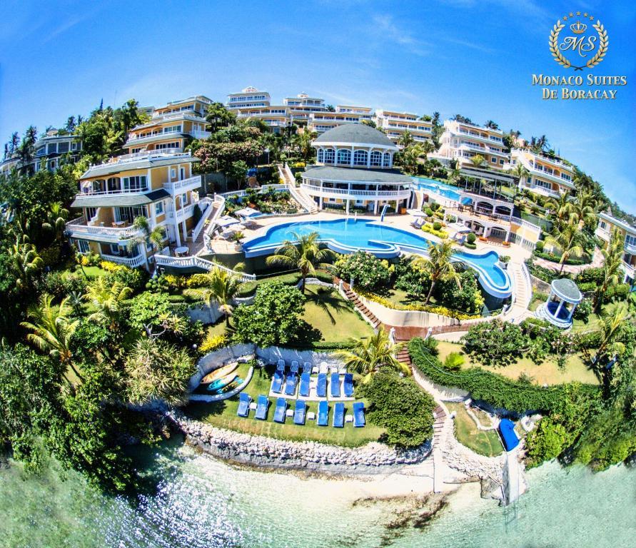 Letecký snímek ubytování Monaco Suites de Boracay