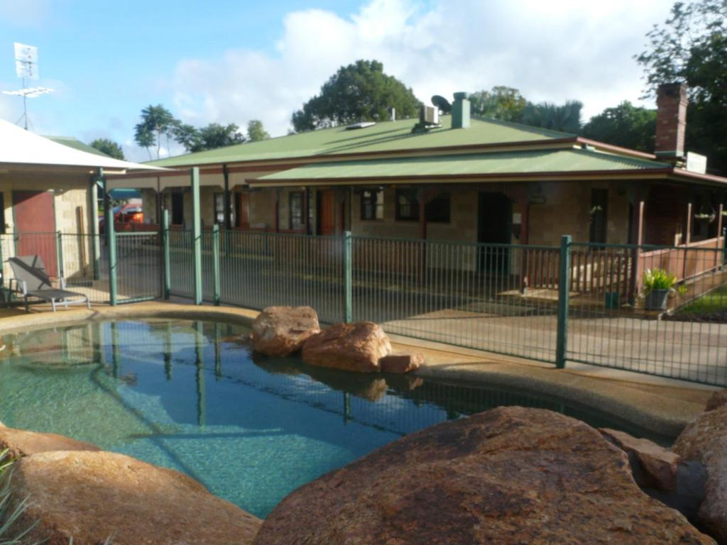 The swimming pool at or near Curtain Fig Tree Motel