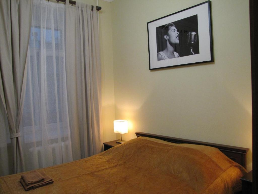 Cama o camas de una habitación en Jazz Hostel
