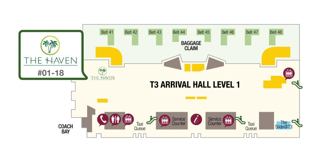 changi airport terminal 1 arrival hall map Hotel The Haven By Jetquay Located In Singapore Singapore changi airport terminal 1 arrival hall map