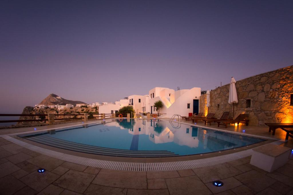 The swimming pool at or near Anemousa Hotel