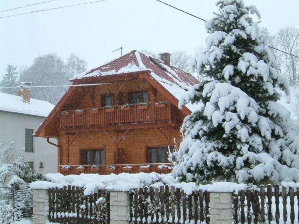 Penzion U Hološov v zimě