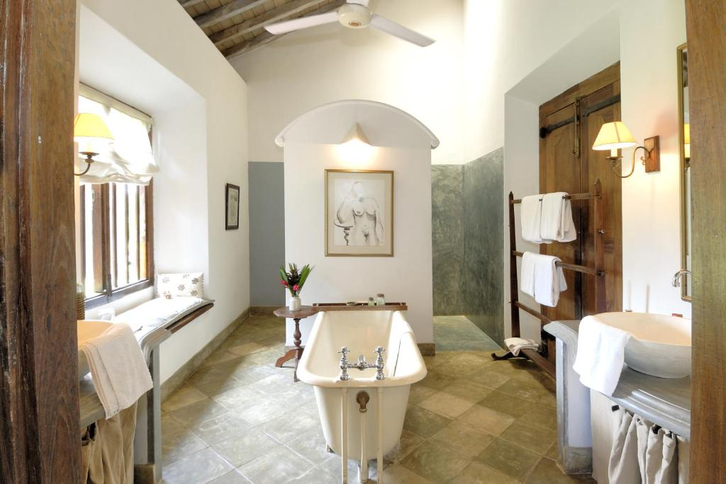 A bathroom at The Dutch House