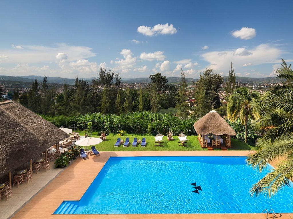 The swimming pool at or near Hotel des Mille Collines