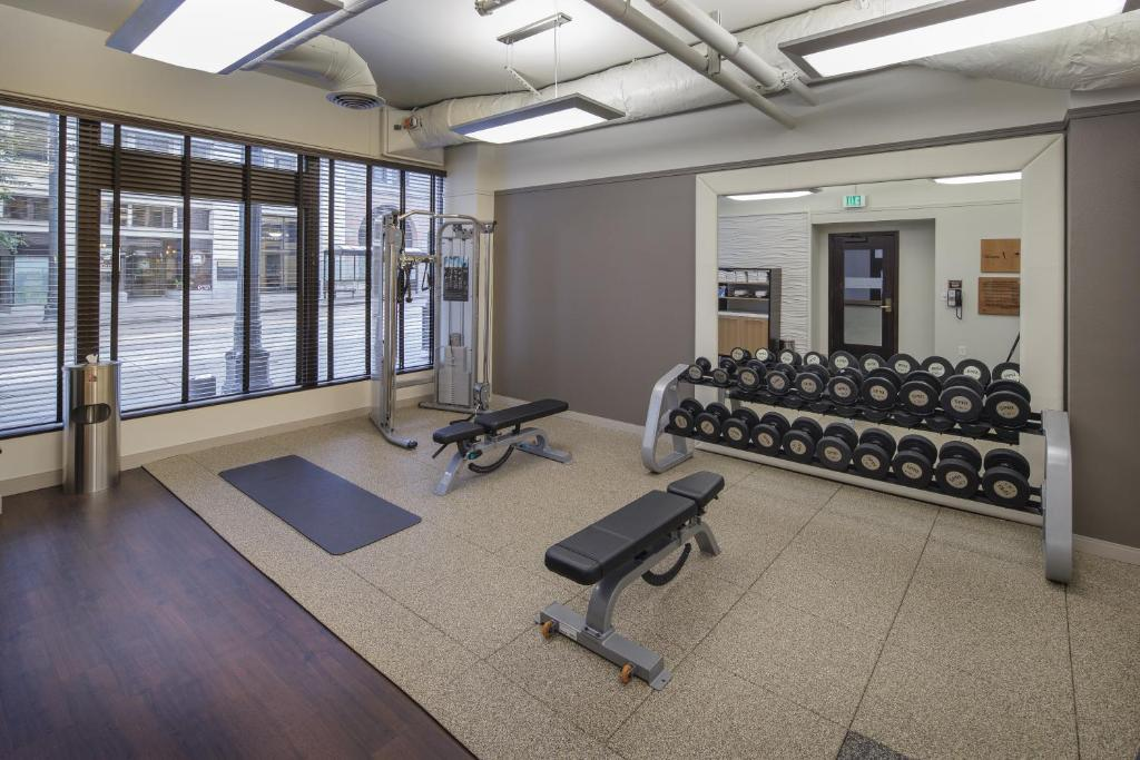 The fitness center and/or fitness facilities at The Arctic Club Seattle, a DoubleTree by Hilton Hotel