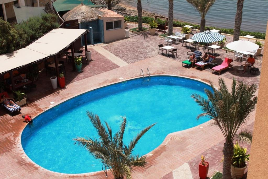 A view of the pool at Les Acacias Hotel Djibouti or nearby
