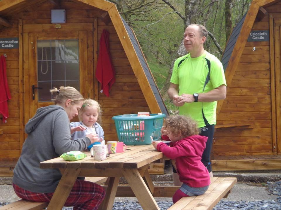 Children staying at Bryn Dinas Camping Pods Ltd.