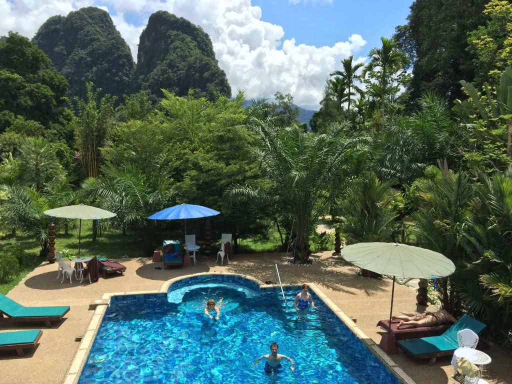 A view of the pool at The Hotel Khaosok and Spa or nearby