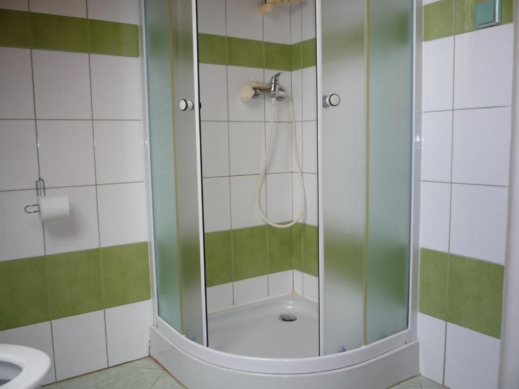 A bathroom at Apartmány U Stoiberů