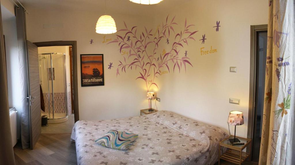 Letto o letti in una camera di Apartment La Gatta Viola