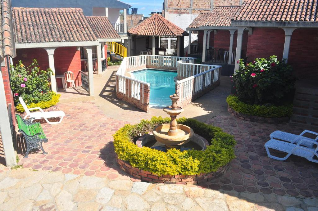 The swimming pool at or near Hotel Aguablanca