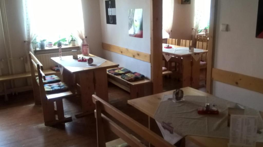 A restaurant or other place to eat at Penzion Pohoda