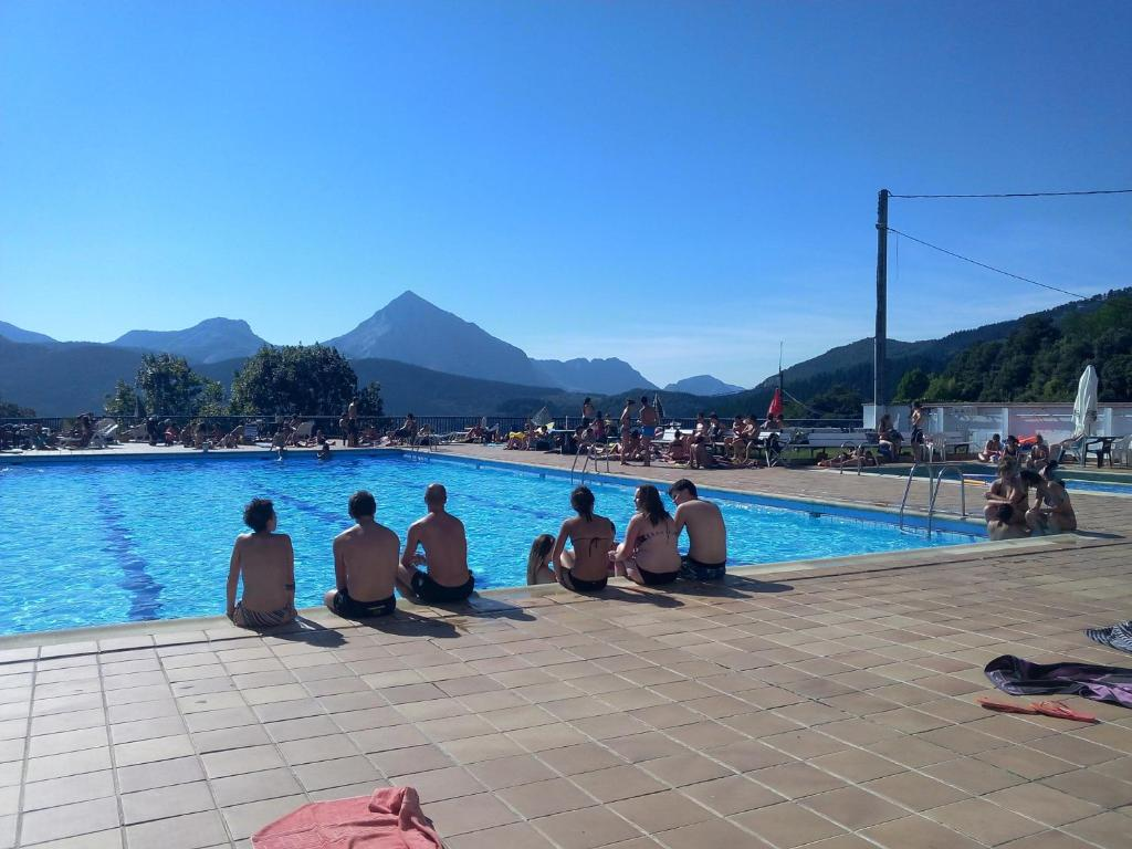 The swimming pool at or near Pension Uxarte