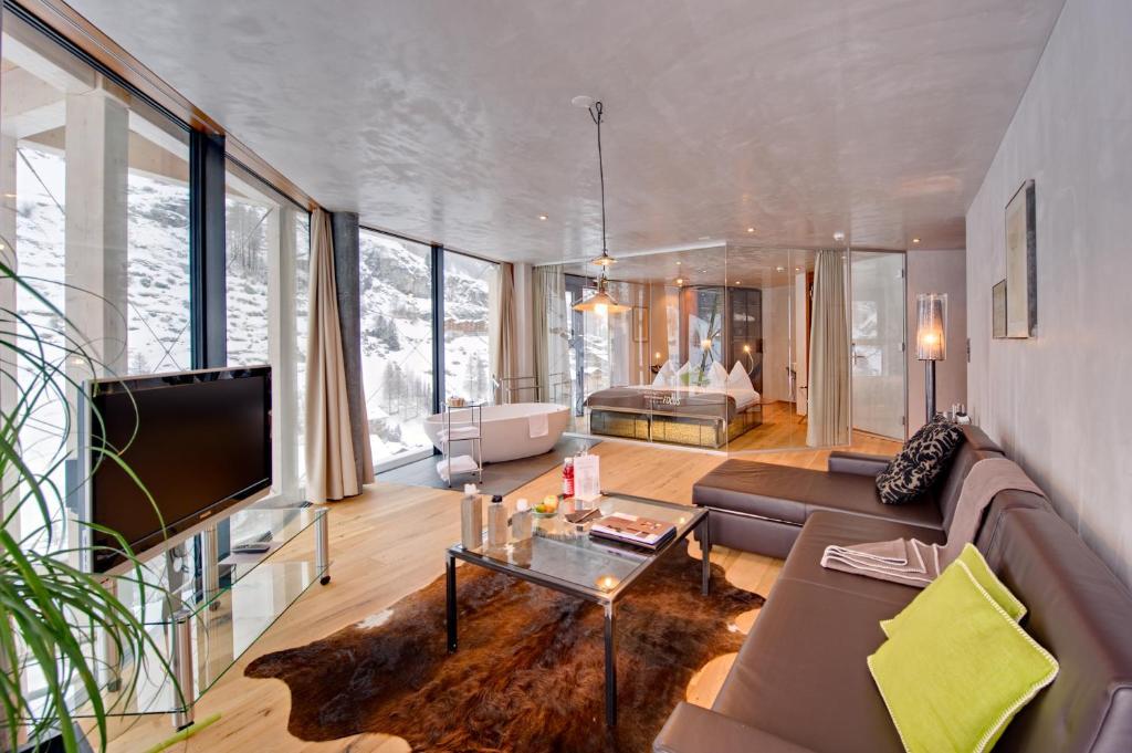 منطقة جلوس في Matterhorn FOCUS Design Hotel