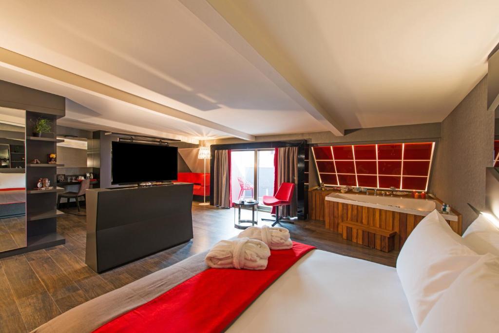 Svetainės erdvė apgyvendinimo įstaigoje Hotel Favori Nisantasi
