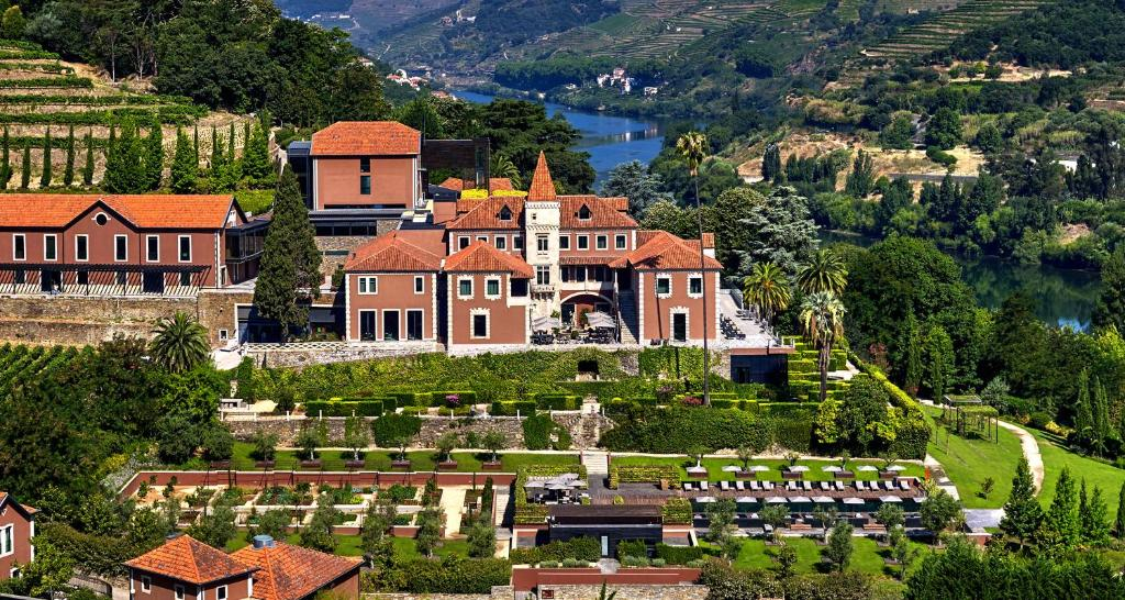 A bird's-eye view of Six Senses Douro Valley