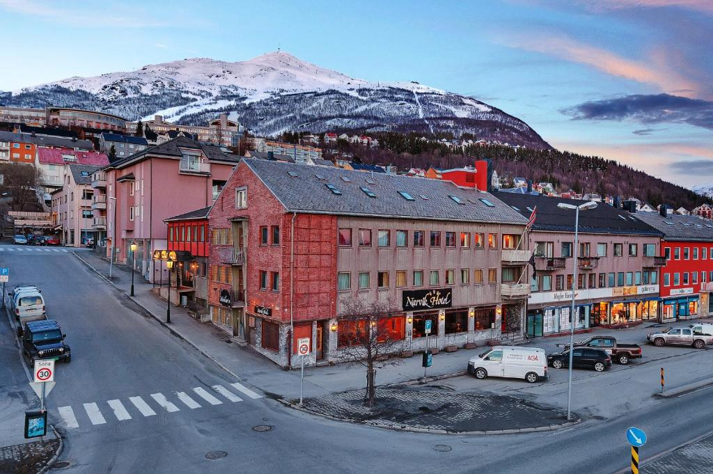 Narvik Hotel Wivel during the winter