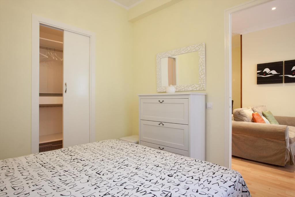 A bed or beds in a room at Piso Republica de Argentina