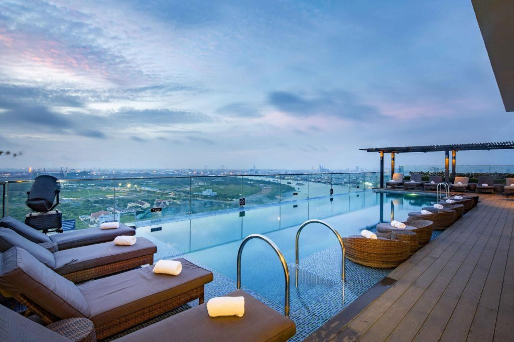 The swimming pool at or near Liberty Central Saigon Riverside Hotel
