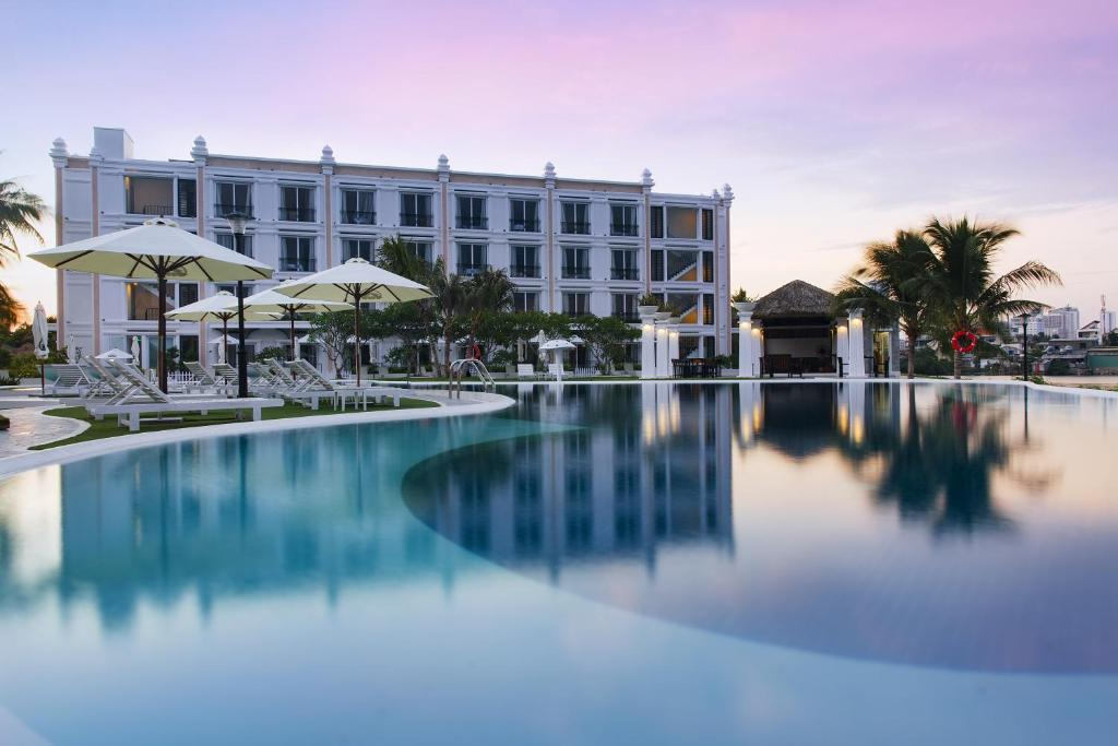 The swimming pool at or close to Champa Island Nha Trang