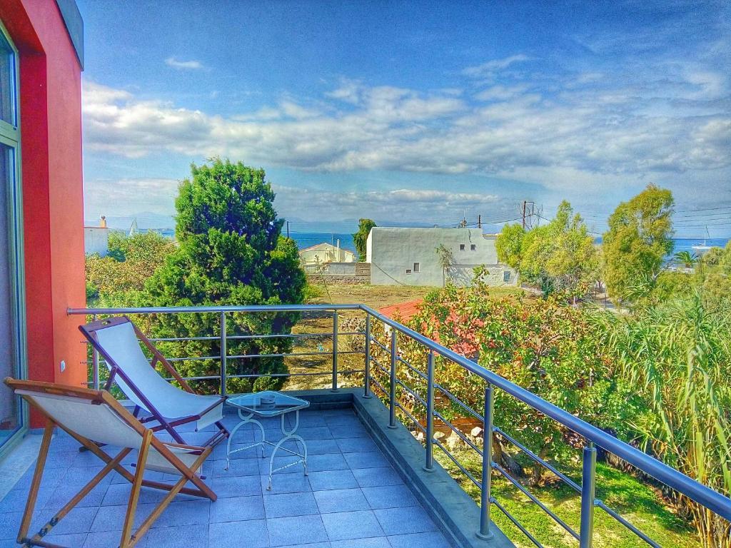 Μπαλκόνι ή βεράντα στο Aegina Holiday Home