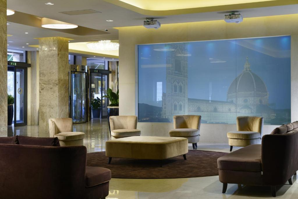 The lobby or reception area at FH55 Grand Hotel Mediterraneo