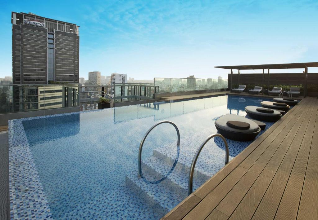 The swimming pool at or near Liberty Central Saigon Citypoint