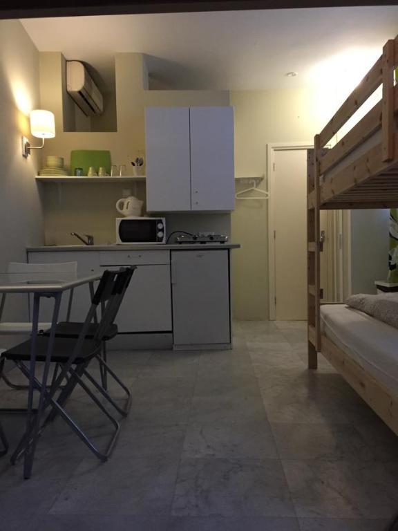 Een keuken of kitchenette bij Hostel Archipel
