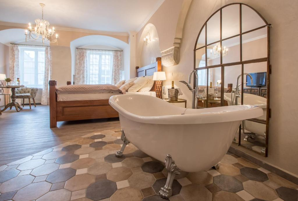 Koupelna v ubytování Penzion Kostnický dům