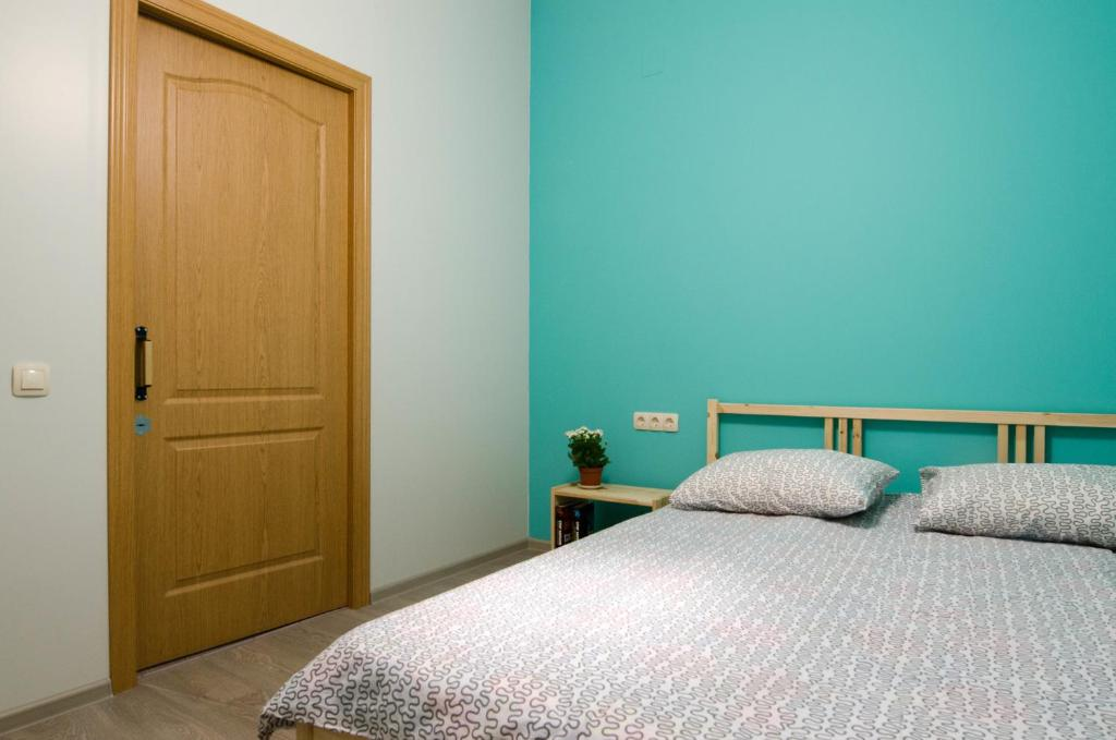 Кровать или кровати в номере Хостел Воздух