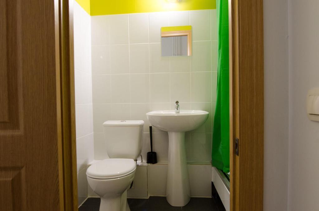 A bathroom at Hostel Vozduh