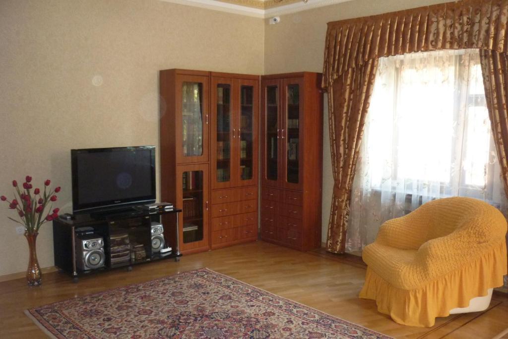 Телевизор и/или развлекательный центр в Хостел Центральный на Гоголя