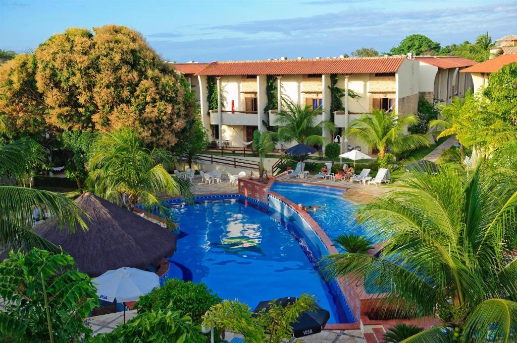 Výhled na bazén z ubytování Solar Pipa Apartments nebo okolí