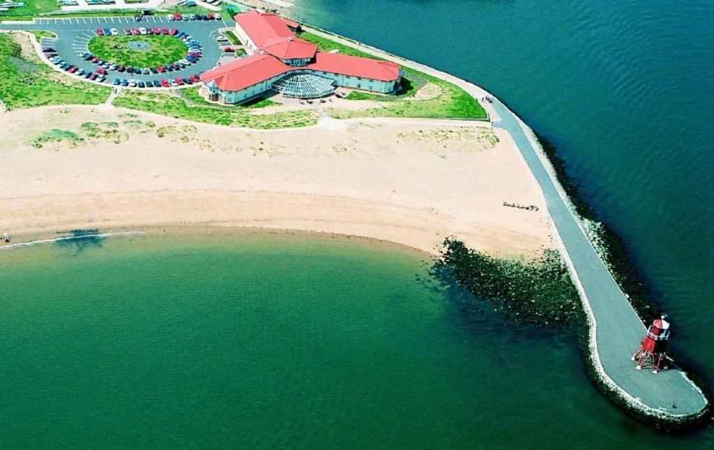 A bird's-eye view of The Little Haven Hotel