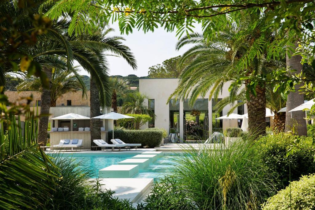 A garden outside Sezz Saint-Tropez