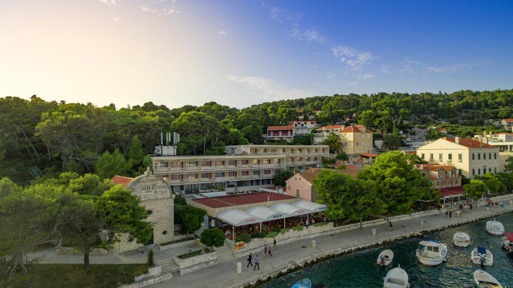 A bird's-eye view of Delfin Hvar Hotel