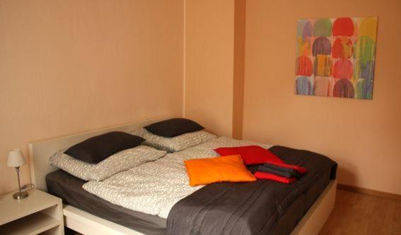 Ein Bett oder Betten in einem Zimmer der Unterkunft Freizeithof Hildesheimer Börde