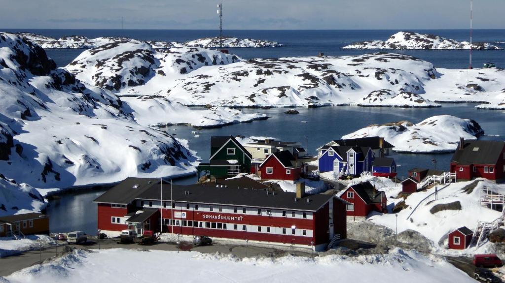 Sisimiut Sømandshjem om vinteren