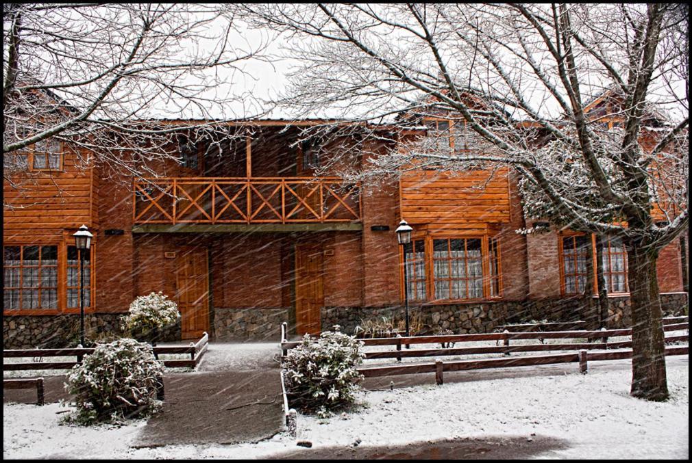 Cabaña Albar durante el invierno