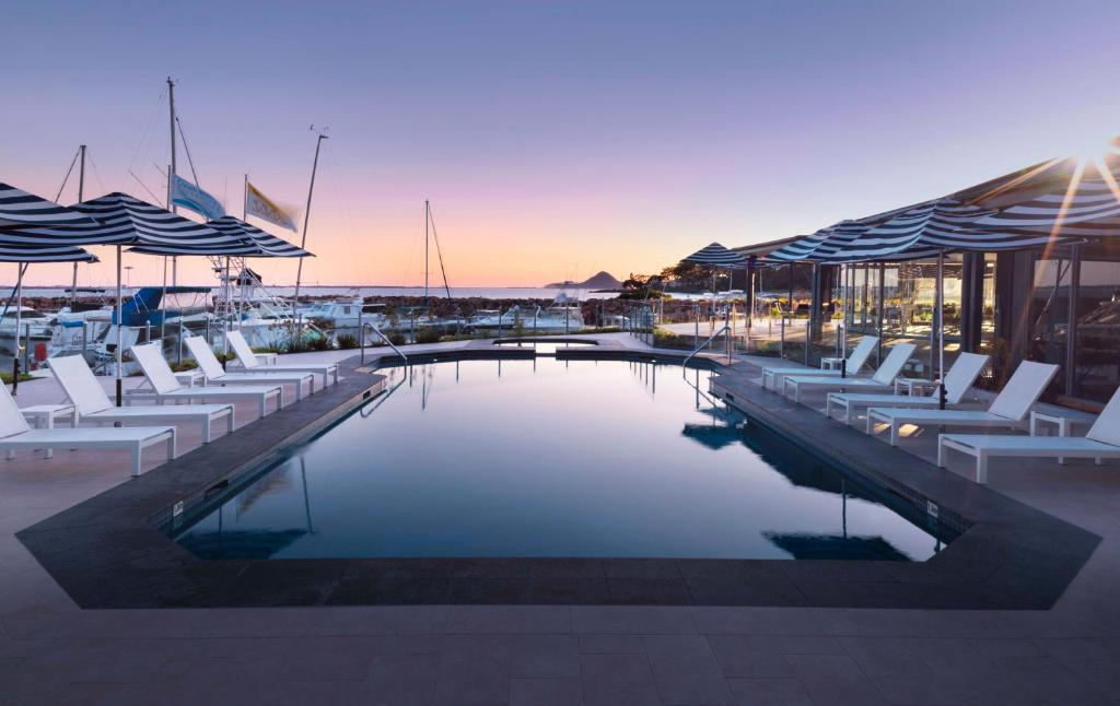The swimming pool at or near Anchorage Port Stephens