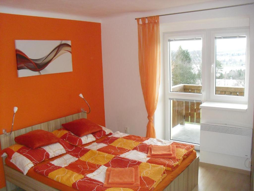 Postel nebo postele na pokoji v ubytování Apartmán Linda