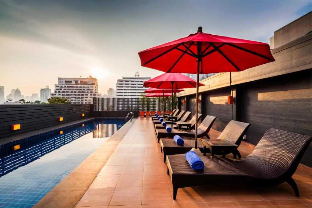 The swimming pool at or near Hotel Solo, Sukhumvit 2, Bangkok