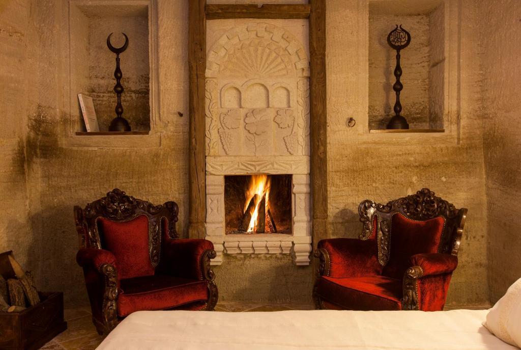 Гостиная зона в Mithra Cave Hotel