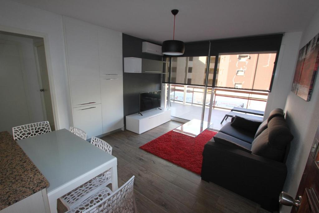Prostor za sedenje u objektu Click&Booking Apartamentos Skorpios