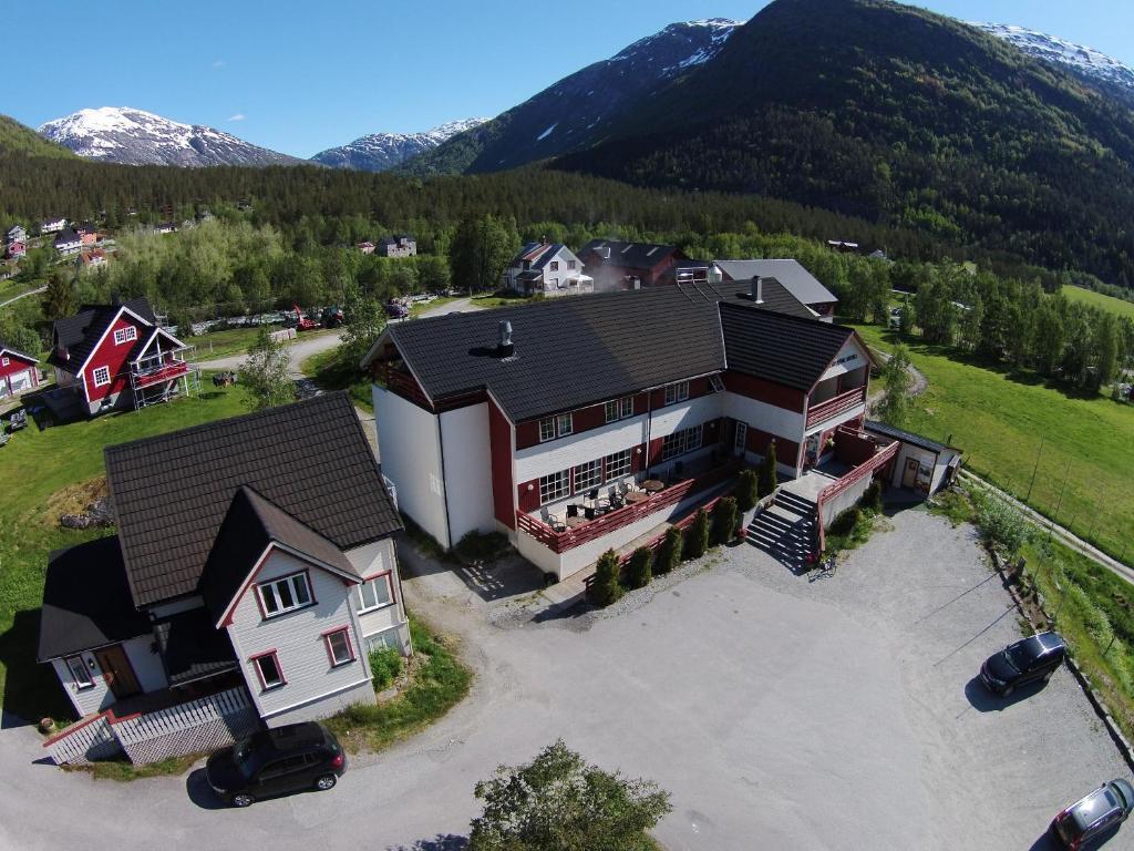 Letecký snímek ubytování Jostedal Hotel